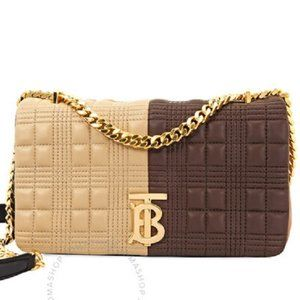 $1,390 *NEW* BURBERRY Brown/Tan Small Quilted